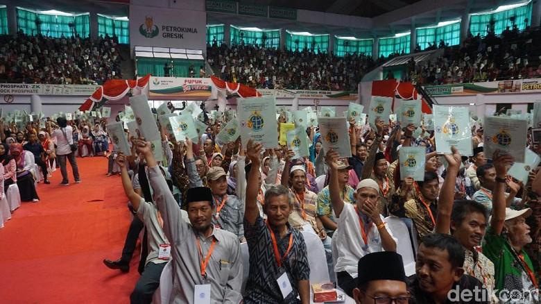 Warga Gresik Tunggu Jokowi Serahkan Sertifikat Tanah Gratis