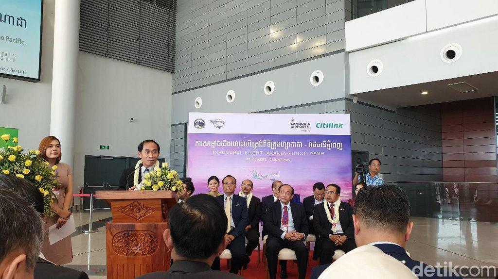 Citilink Buka Penerbangan Perdana ke Phnom Penh, Kamboja