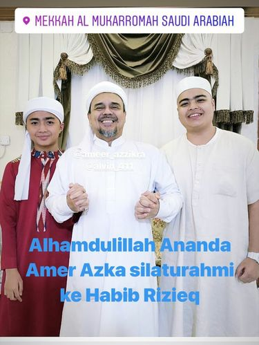 Jalani Umrah, Dua Anak Almarhum Arifin Ilham Bertemu Habib Rizieq