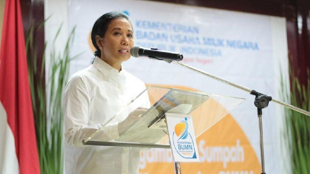 Rini Ogah Komentar soal Krakatau Steel Terancam Rugi Rp 1,3 T