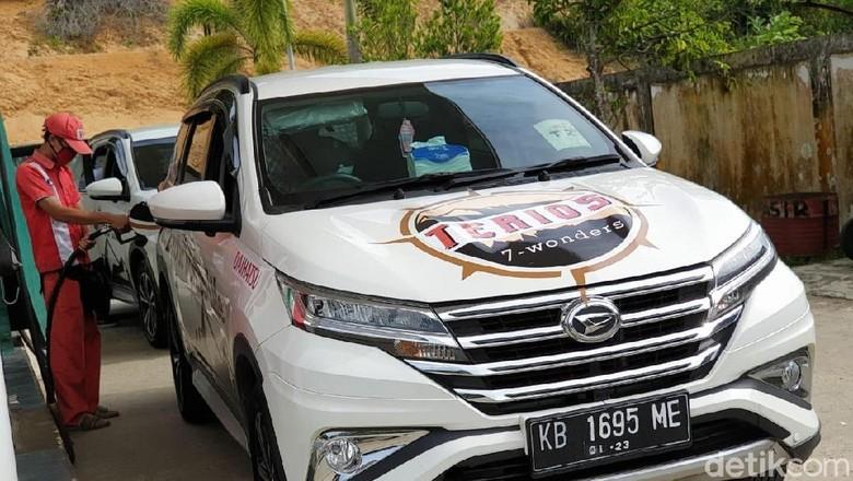 Daihatsu Terios yang melakukan perjalanan Ekspedisi Terios 7 Wonders di Perbatasan Kalimantan Foto: Luthfi Anshori