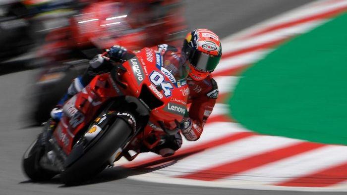 Andrea Dovizioso kurang puas dengan hasil tes MotoGP di Misano (Lluis Gene / AFP)