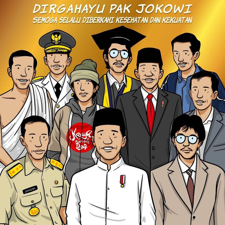 Ilustrasi Ini Ungkap Tentang Jokowi, dari Nama Mulyono hingga Presiden RI Foto: Karya Adalah Doa/ Istimewa