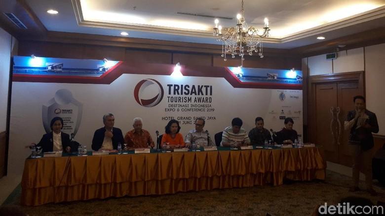Suasana konferensi pers Trisakti Tourism Award (Wahyu/detikcom)