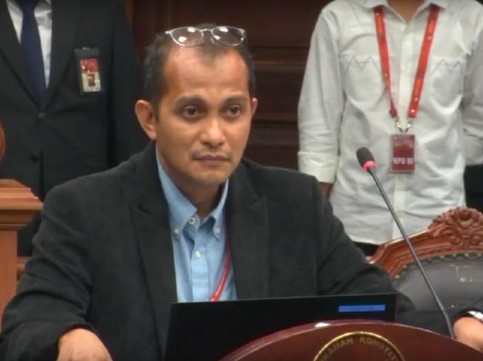 Ahli dari tim Jokowi, Eddy Hiariej saat sidang MK (Youtube MK)