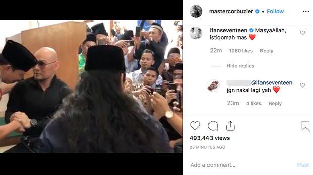 Doakan Deddy Corbuzier, Ifan 'Seventeen' Diingatkan Salat di Mushola