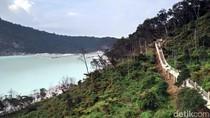 Ini Calon Spot Foto Favorit Wisatawan di Kawah Putih