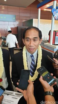 VP President Corporate Startegy of Citilink, Heriyanto (Ahmad Masaul/detikTravel)