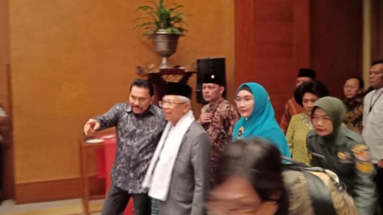 Maruf Amin Hadiri Halalbihalal Purnawirawan TNI