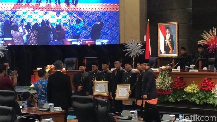 Rapat paripurna DPRD DKI dalam rangka HUT ke-492 DKI Jakarta, Sabtu (22/6/2019) Foto: Nur Azizah Rizki Astuti-detikcom
