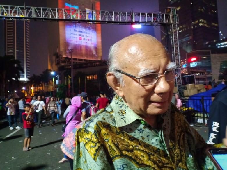 Hadir di HUT DKI, Emil Salim Puji Macet Jakarta Mulai Berkurang