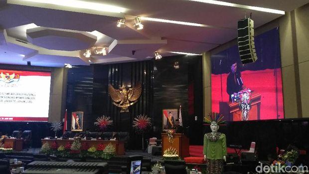 Rapat paripurna DPRD DKI dalam rangka HUT ke-492 DKI Jakarta, Sabtu (22/6/2019)