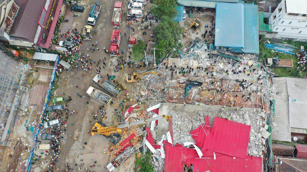 Proyek Gedung di Kamboja Ambruk, 7 Orang Tewas