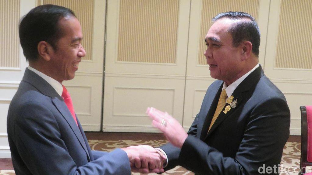 Bertemu PM Thailand, Jokowi Bahas Isu Keamanan di Rakhine State