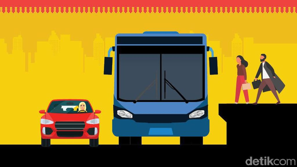 Mimpi RI Punya Transportasi Gabungan Bus Dengan LRT