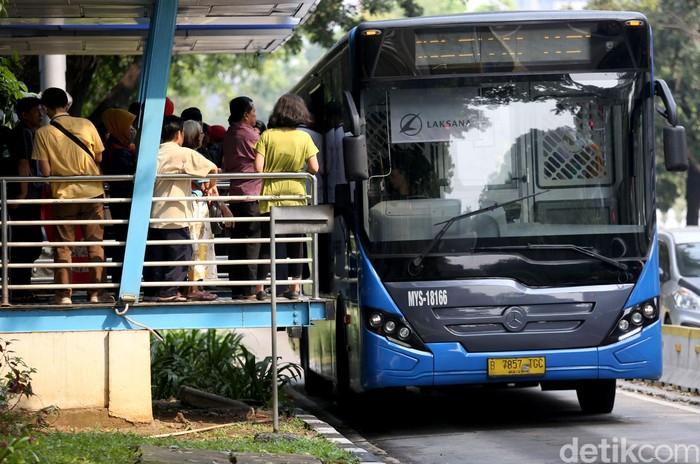 Ilustrasi bus TransJakarta (Agung Pambudhy/detikcom)