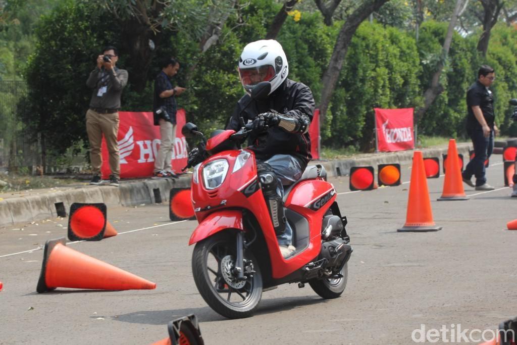 Test Ride Honda Genio di Jakarta, Jumat (21//6/2019).