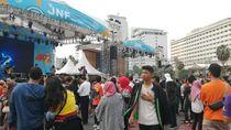 Jalan Arah HI Ditutup, Warga Mulai Datangi Lokasi Perayaan HUT DKI