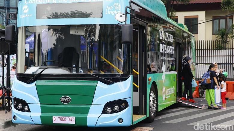 Bus listrik BYD Foto: Grandyos Zafna