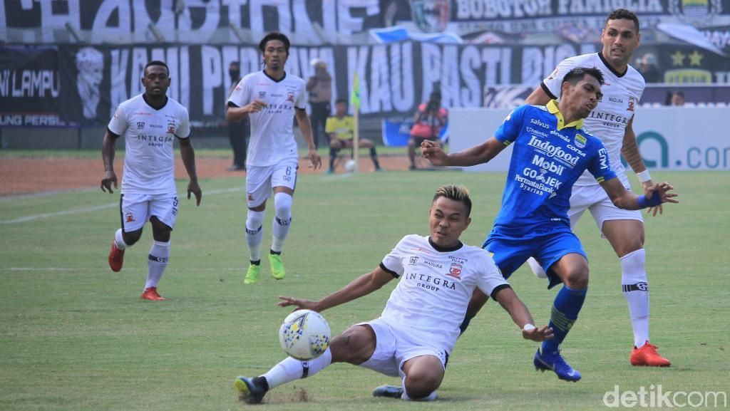 Jamu Madura United, Persib Petik Hasil Imbang