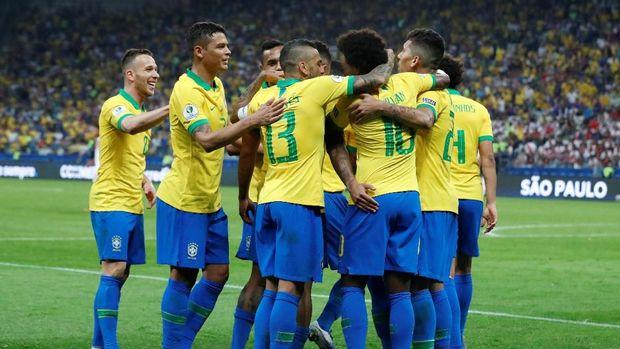 Timnas Brasil lolos ke perempat final Copa America 2019.