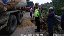 Amblas! Begini Penampakan Jalan Nasional Lintas Utara Riau