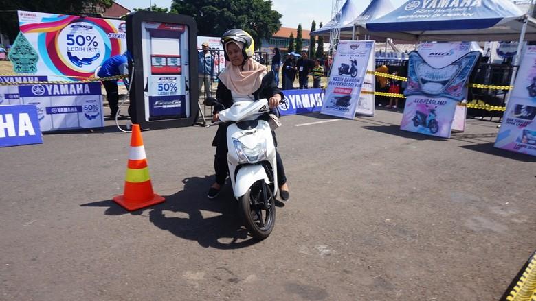 test ride motor Yamaha. Foto: Akfa Nasrulhak/detikcom