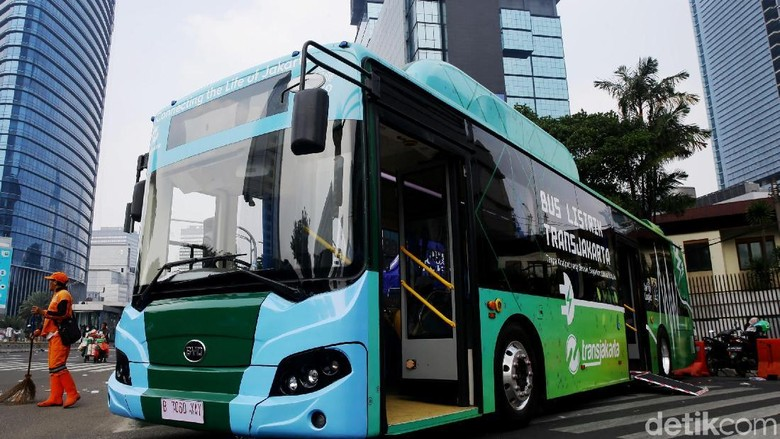 Bus listrik TransJakarta Foto: Grandyos Zafna