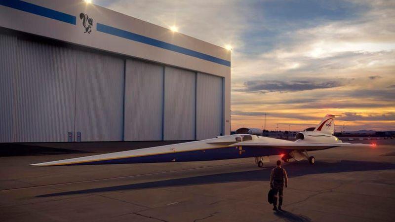 Pesawat ini masih dalam tahap konsep. Adalah NASA dan Lockheed Martin yang sedang merancang X-59 (NASA/CNN)