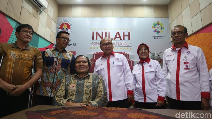 NPC Indonesia teken MoU dana pelatans dengan Kemenpora. (Mercy Raya/detikSport)