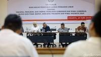 Komisi Pemilihan Umum (KPU) melaksanakan uji publik rancangan Peraturan KPU (PKPU) untuk Pilkada 2020 di Kantor KPU, Jakarta, Senin (24/6/2019).