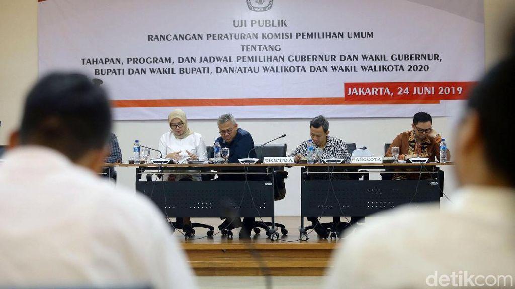 KPU Gelar Uji Publik PKPU Terkait Pilkada Serentak 2020
