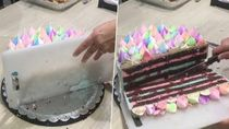 Usai Viral Video Kupas Bawang, Kini Ada Video Cara Praktis Potong Kue