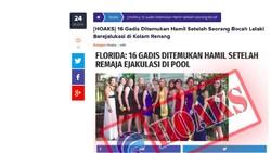 16 Gadis Hamil karena Bocah Ejakulasi di Kolam Renang, Faktanya Bagaimana?