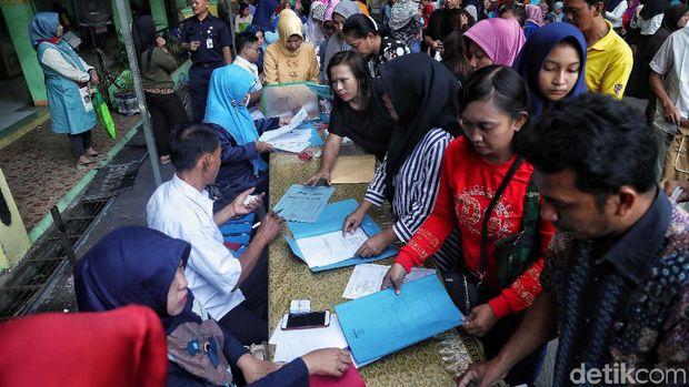 Pendaftaran PPDB Zonasi di SMPN 129 Papanggo, Jakut /