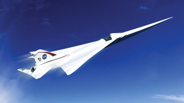 Meski produksinya masih jauh, Lockheed Martin menggaet NASA untuk membuat pesawat X-59 Quiet SuperSonic Technology X yang lebih tenang dan tak meledak-ledak (NASA/CNN)