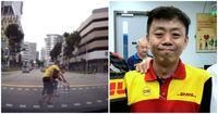 Kurir DHL Express bantu pria tua sebrangi jalan jadi viral