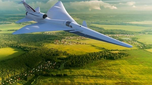 Pesawat supersonik ini tidak akan menciptakan ledakan sonik yang menggelegar. Ini foto kecepatan supersonik yang melewati batas gelombang kejut yang menyebabkan ledakan menggelegar (NASA/CNN)