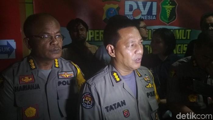 Kabid Humas Polda Sumatera Utara (Sumut) Kombes Tatan Dirsan Atmaja (Budi Warsito/detikcom)