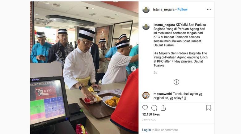 Antre di Restoran Cepat Saji, Raja Malaysia Dipuji Rakyatnya