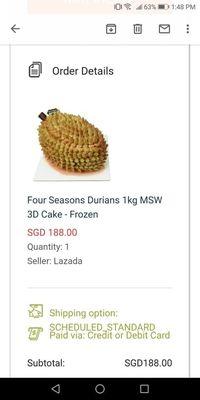 Pesan Online Kue Durian, Wanita Ini Malah Dapat Kue yang Berantakan!