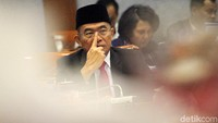 Muhadjir Effendy dan Komisi X melakukan rapat kerja di Nusantara I, Kompleks Parlemen, Senayan, Jakarta, Senin (24/6/2019).