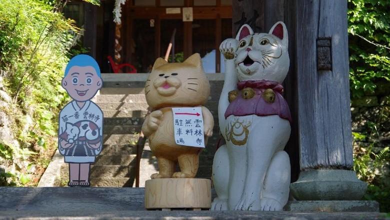 Kuil Kucing di Hagi, Jepang (Unjrinji/Facebook)