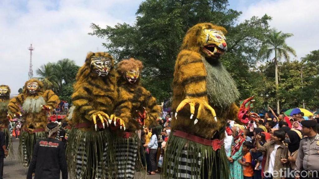 Meriahnya Galuh Ethnic Carnival di Hari Jadi Ciamis