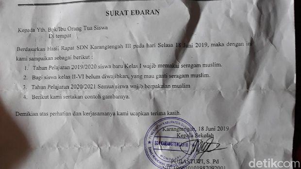 Aturan Siswa SDN Wajib Berbaju Muslim Viral, Wali Murid Buka Suara