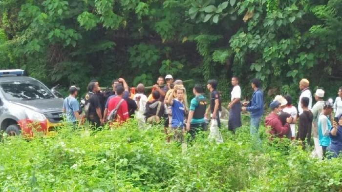 Lokasi penemuan jasad ayah-anak ditemukan tewas digorok (Foto: dok. Istimewa)