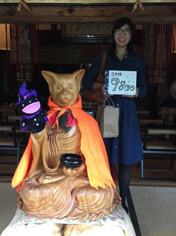 Salah satu yang terkenal adalah patung kucing biksu ini. (Unjrinji/Facebook)