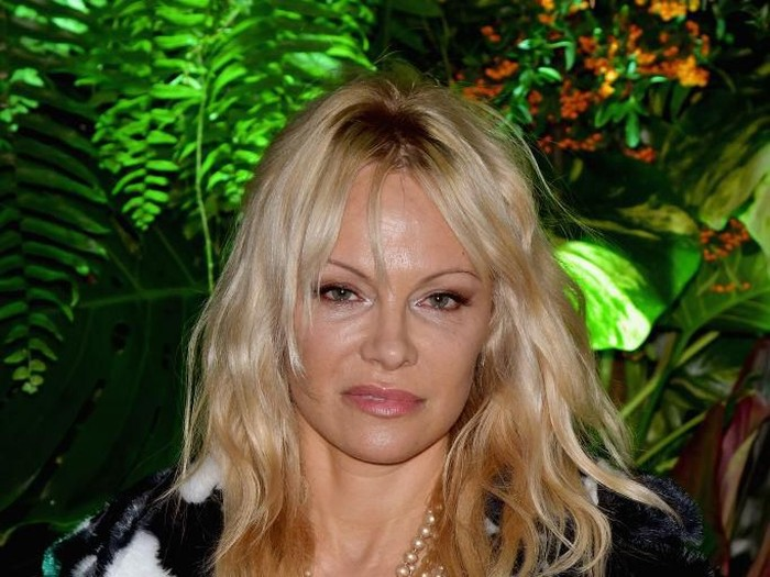 COLOGNE, GERMANY - SEPTEMBER 13:  Pamela Anderson arrives for a photocall for the show House of Mystery by Illusionist Hans Klok on September 13, 2017 in Cologne, Germany.  (Photo by Andreas Rentz/Getty Images)