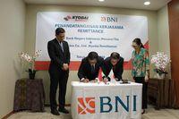 Penandatanganan kerja sama BNI dan Global Unidos Co. Ltd atau Kyodai Remittance.