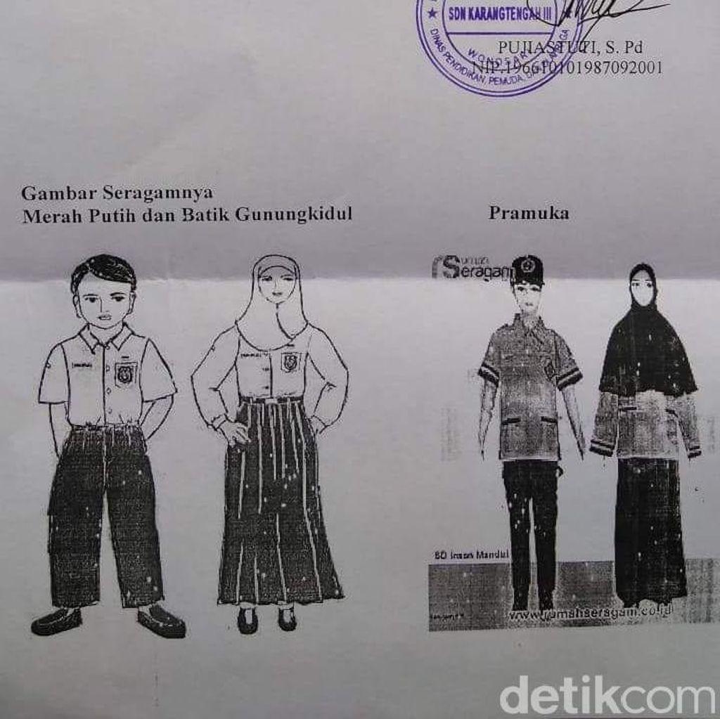Begini Isi Surat SDN di Gunungkidul yang Wajibkan Siswa Berbaju Muslim
